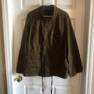 Lane Bryant Plus Size Greenish Brown Zipper Utilit